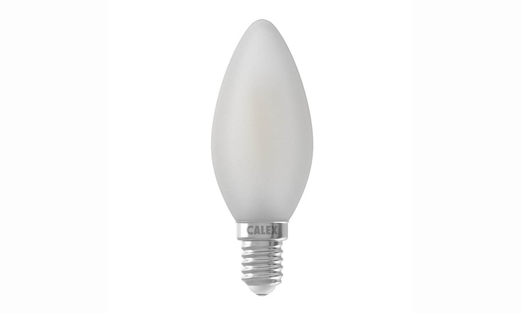 Frosted serie: LED Filament Kaarslamp E14