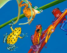 "Load image into Gallery viewer, Frog Quartet 11x14"" Poster"