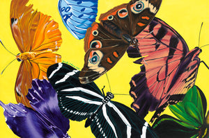 Butterfly Waltz Giclee on Canvas