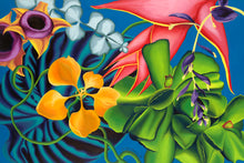 Load image into Gallery viewer, Tropical Whirl Giclee on Canvas