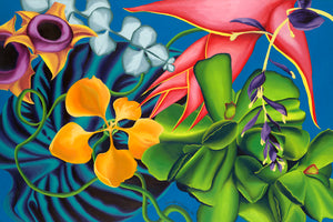 Tropical Whirl Giclee on Canvas