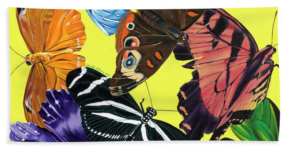 Butterfly Waltz - Bath Towel