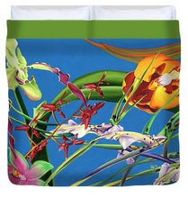Load image into Gallery viewer, Enter the Orchids  - Duvet Cover