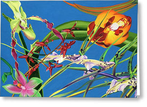 Enter the Orchids  - Greeting Card