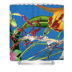 Enter the Orchids  - Shower Curtain