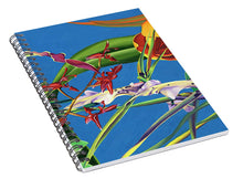 Load image into Gallery viewer, Enter the Orchids  - Spiral Notebook