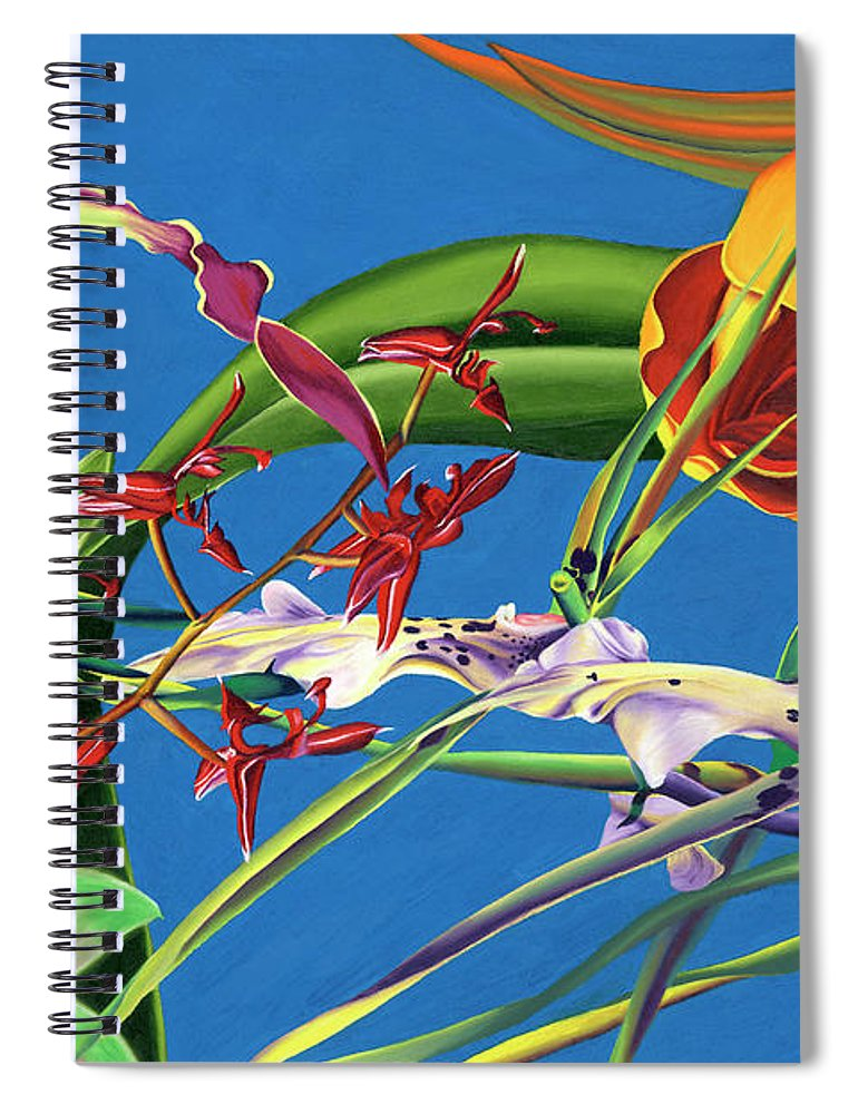 Enter the Orchids  - Spiral Notebook
