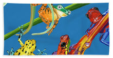 Load image into Gallery viewer, Frog Quartet - Beach Towel