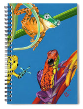 Load image into Gallery viewer, Frog Quartet - Spiral Notebook