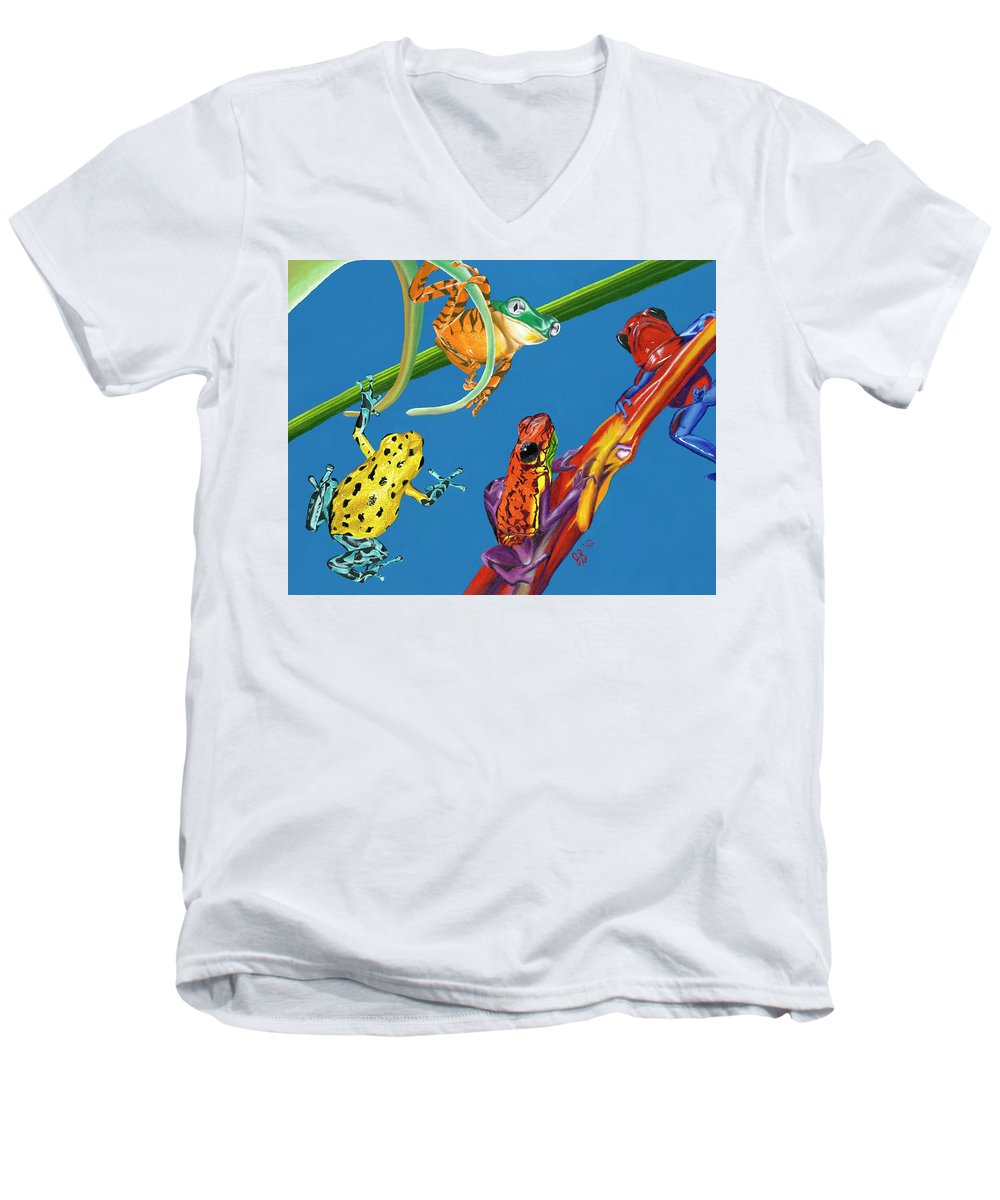 Frog Quartet - Men's V-Neck T-Shirt