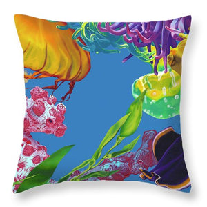 Jelly Undulations - Throw Pillow