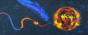 "Fire of Night 8x20"" Reproductions on Poster or Canvas"