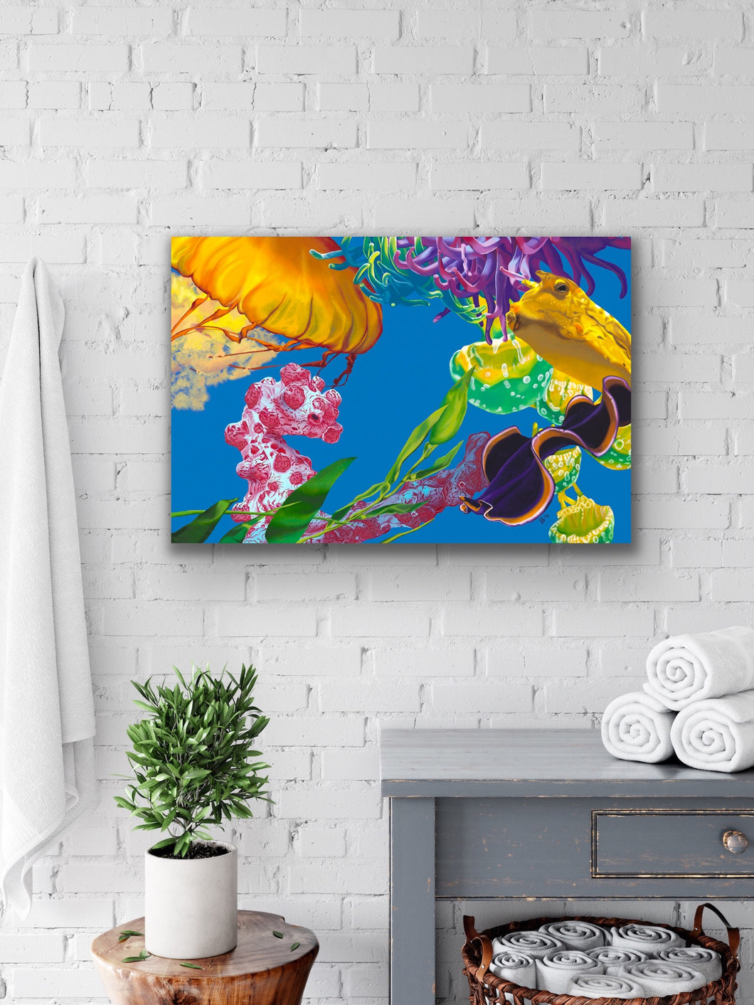 Jelly Undulations Giclee on Canvas