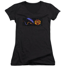 Fire of Night - Women's V-Neck