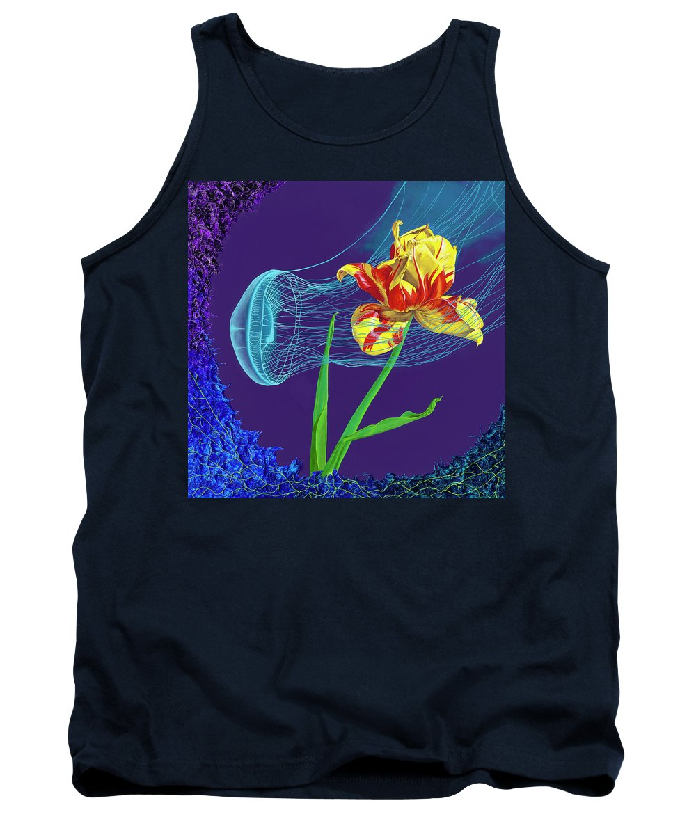 Tulip and Jellyfish Embrace  - Tank Top