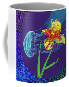 Tulip and Jellyfish Embrace  - Mug