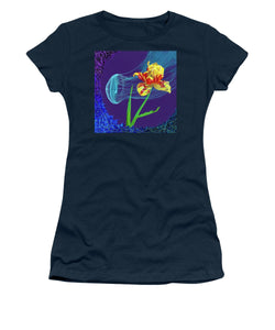 Tulip and Jellyfish Embrace  - Women's T-Shirt