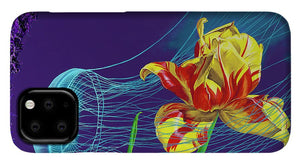 Tulip and Jellyfish Embrace  - Phone Case