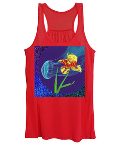Tulip and Jellyfish Embrace  - Women's Tank Top