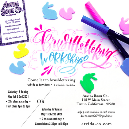 Brushlettering Workshop- May 1st &2nd