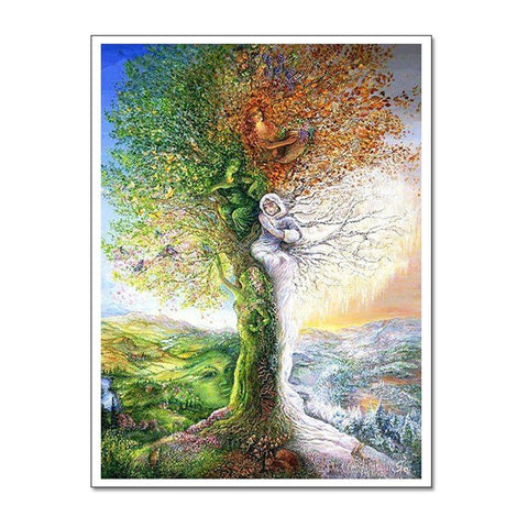 1000 Piece PUZZLE Nordic Abstract Art Tree JIGSAW PUZZLE Best Gifts for Children and Adult