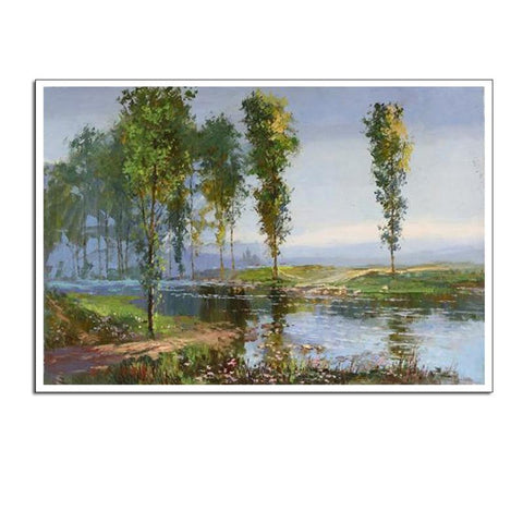 Jigsaw Puzzle Spring Landscape Oil Painting 1000 PIECE Puzzle Best Family Game Entertainment Toys