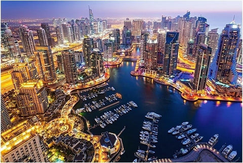 1000 Piece Dubai Night Sky Super Beautiful Puzzles Challenging