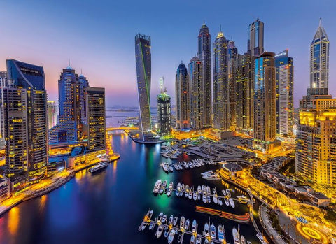 1000 Piece Dubai City Harbour Super Beautiful Puzzles Challenging