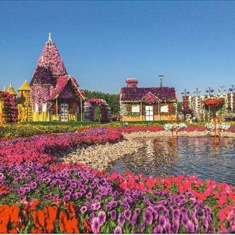 1000 Piece Dubai Garden Villa Super Beautiful Puzzles Challenging