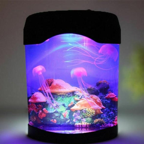 Aquarium Night Light Motion Lamp Moving Jellyfish Five Color LED Lighting Effect