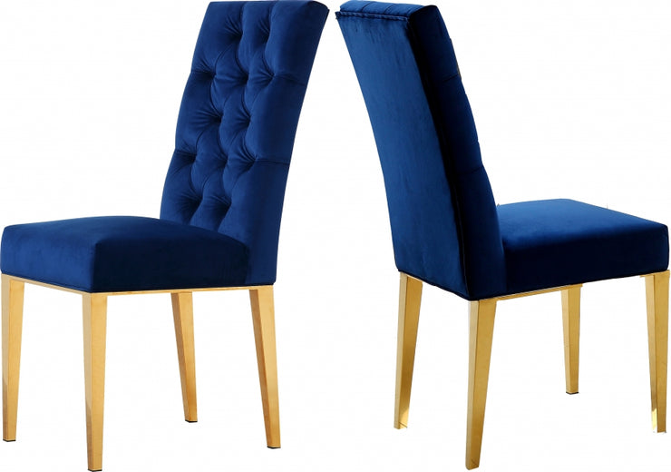 2 Capri Velvet Dining Chairs