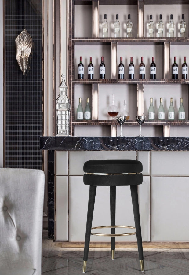 Coral Velvet Swivel Bar Stool Set of 2