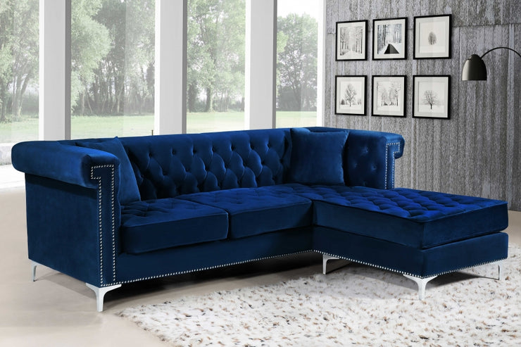 Damian Velvet Reversible Sectional