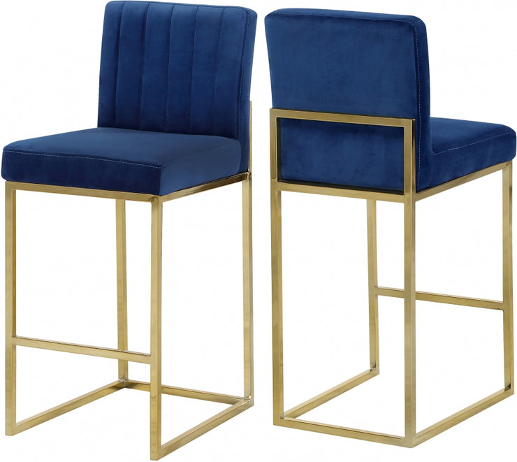 Giselle Velvet Counter Stool Set of 2
