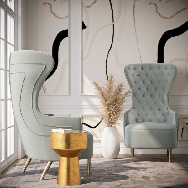 Jezebel Velvet Wingback Chair