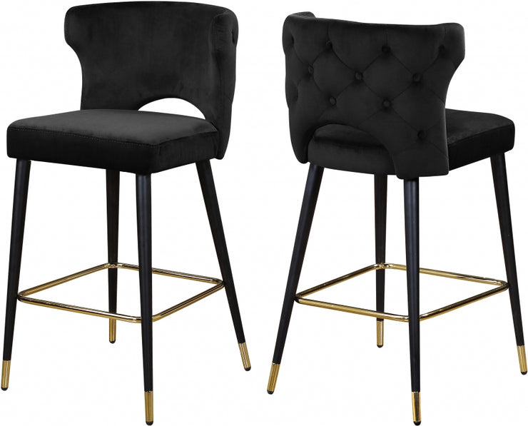 Kelly Velvet Counter Stool Set of 2