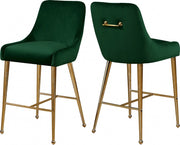 Owen Velvet Counter Stool Set of 2
