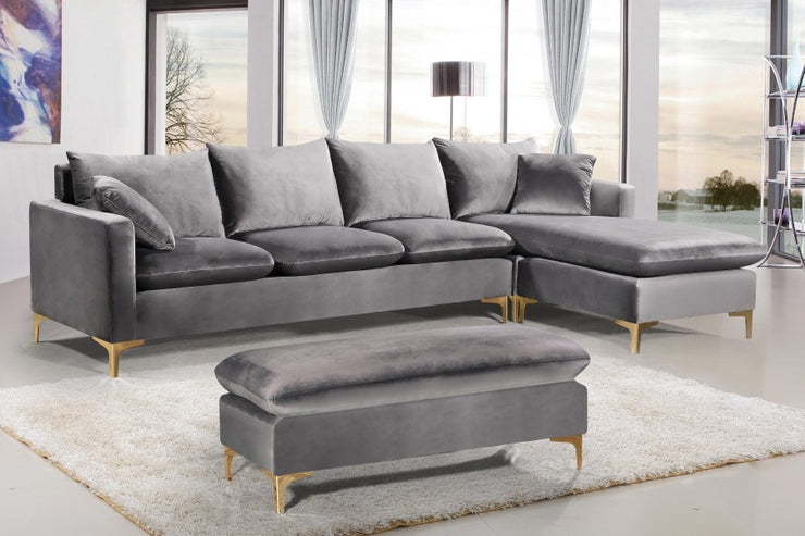 Naomi Velvet Reversible Sectional