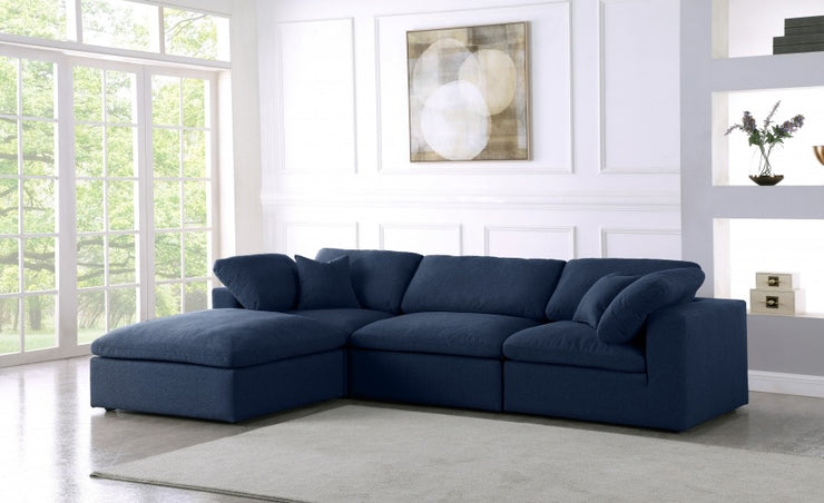 Serene 4 Linen Deluxe Cloud Modular Down Filled Overstuffed Reversible Sectional