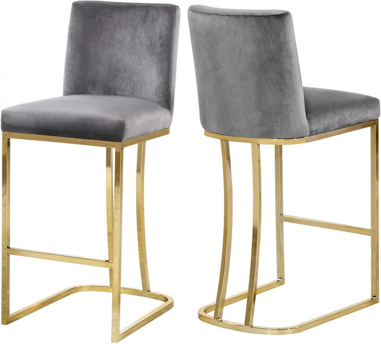 2 Set of Heidi Velvet Counter Stools