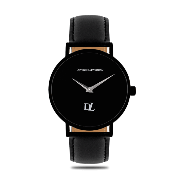 Minimalist watches 44 mm  matt black color by Deveron Lewendal brand