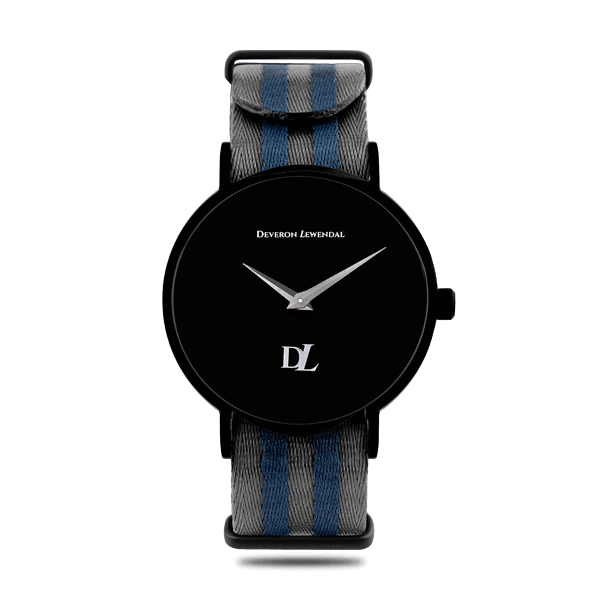 Stylish black watches with Nato strap by Deveron Lewendal brand