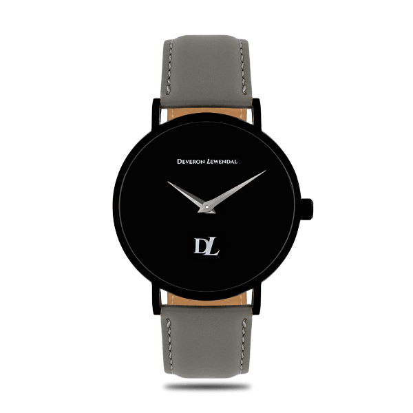 Elegant timepiece Black Quartz by Deveron Lewendal brand from Sweden