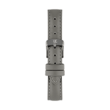 Leather watch strap in smoky gray color by Deveron Lewendal brand