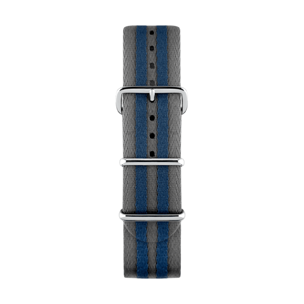 Stylish Nato strap for watches with silver buckles by Deveron Lewendal brand
