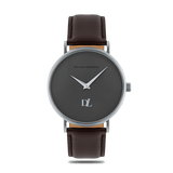 Prime Gray watches 44 mm with genuine leather strap by Deveron Lewendal brand