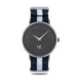 Prime Gray  watches  44 mm with Nato strap by Deveron Lewendal brand from Sweden