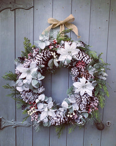 White Christmas Floral Wreath