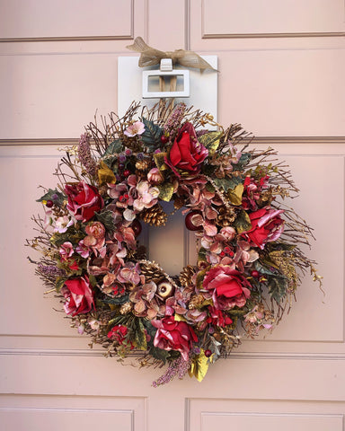 Christmas Sparkle Floral Wreath