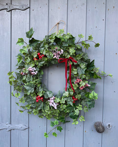 Christmas Ivy Floral Wreath